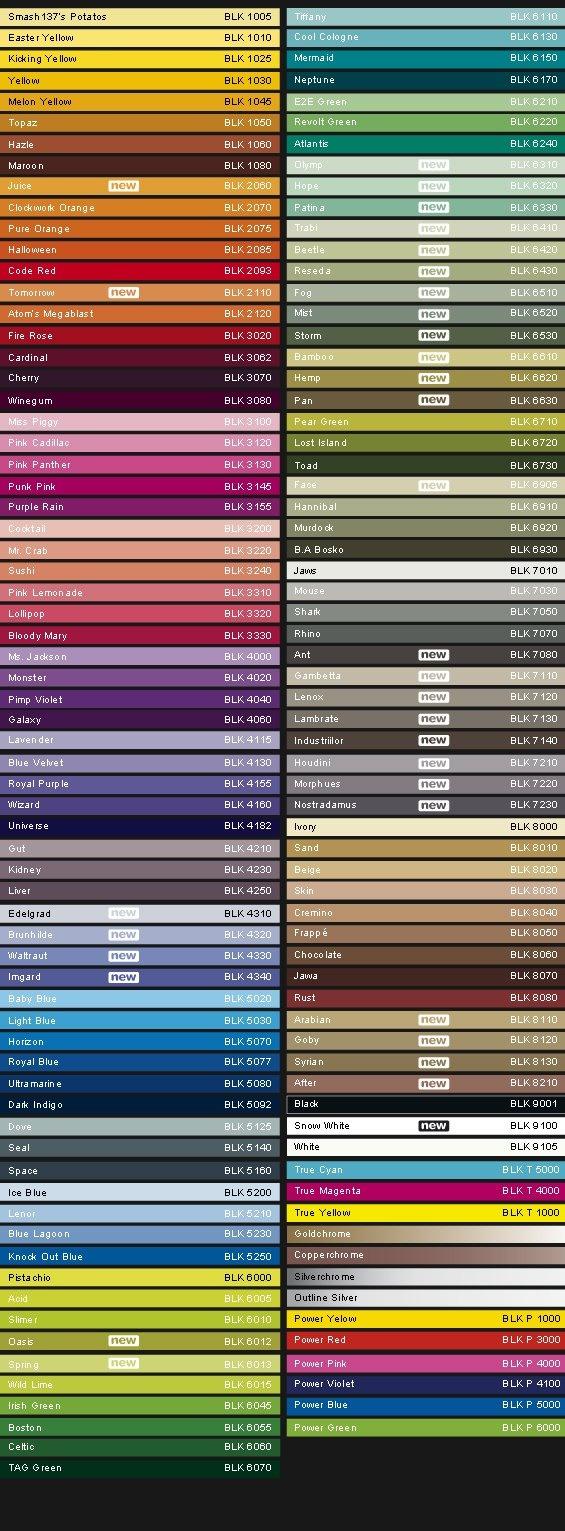 montana color chart black line colors pinterest montana. Black Bedroom Furniture Sets. Home Design Ideas