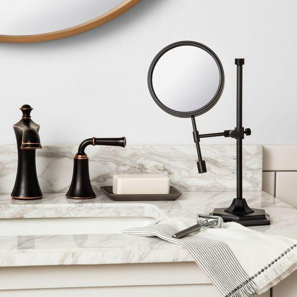 Bath Vanity Mirror Black Hearth Hand With Magnolia In 2020