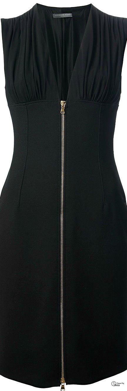 Alexander McQueen ● Black Zip Front Dress