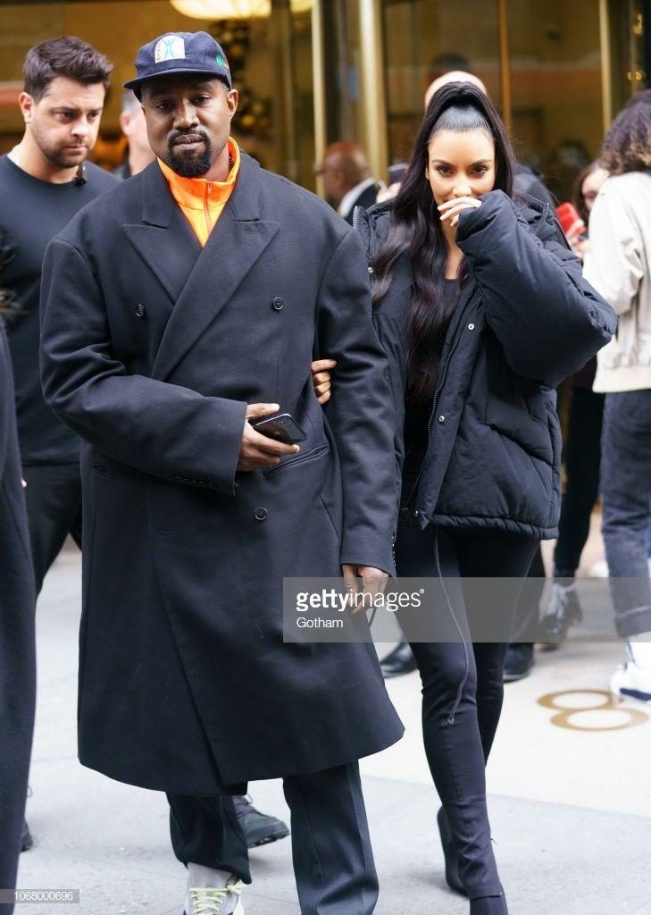 Kim Kardashian Kanye West On December 3 2018 In New York City Kim And Kanye Kim Kardashian Kim Kardashian Style