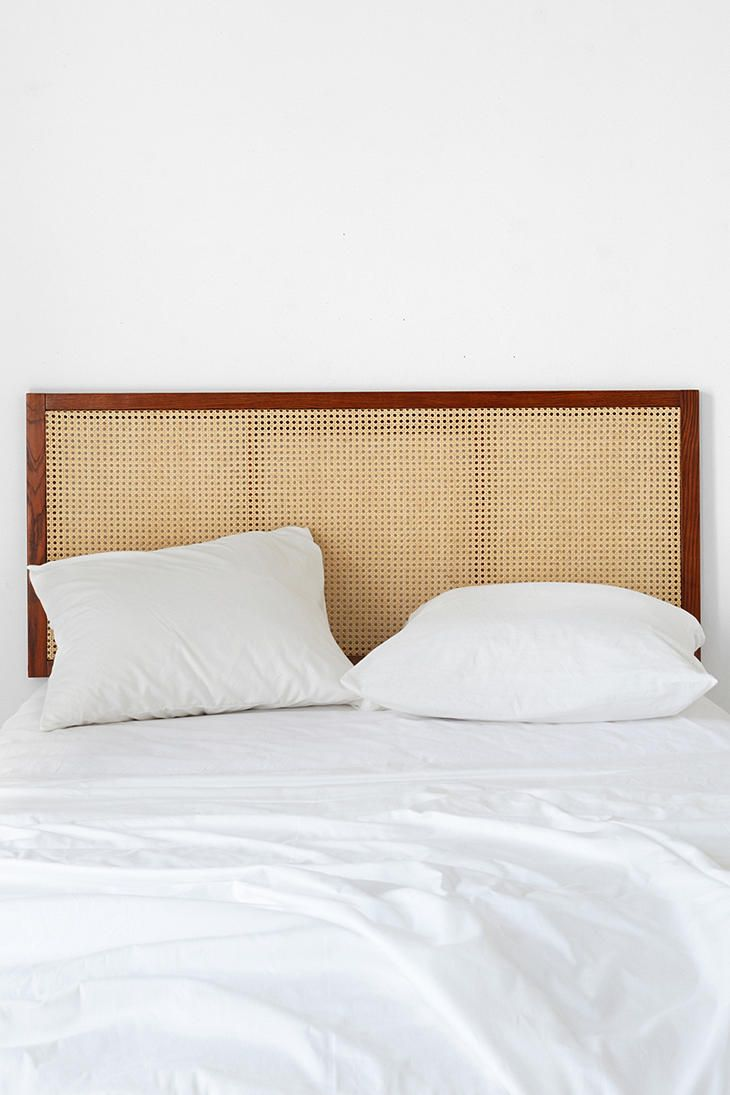 Rattan Headboard - Needs paint Sale: $99 shipped to US.