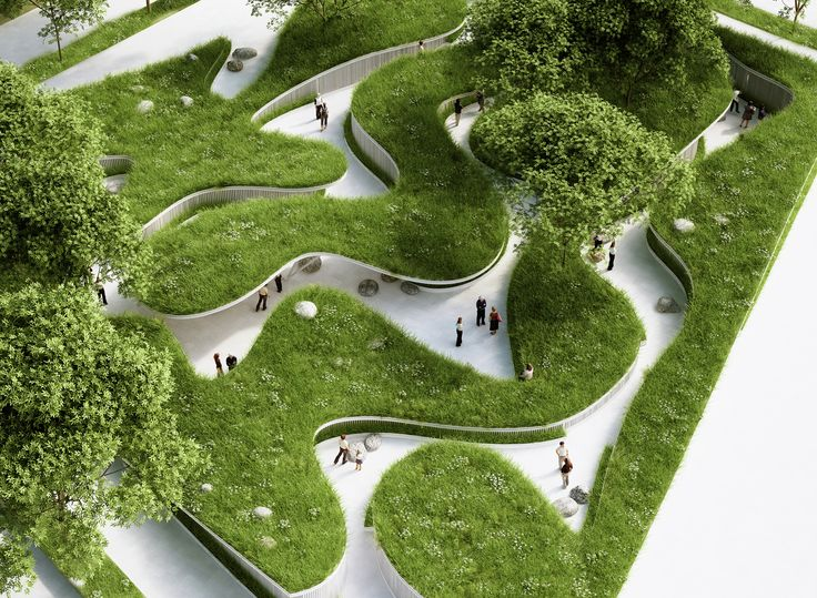 Image 1 of 19 from gallery of Penda Designs River-Inspired Landscape Pavilion for China's Garden Expo. © penda architecture & design