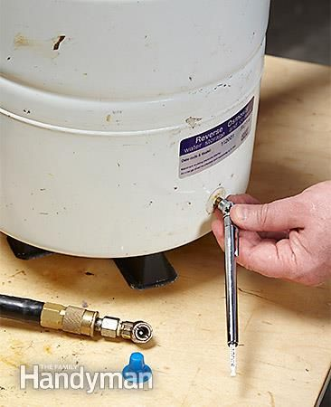 Check the tank's empty pressure - Install a Reverse Osmosis Water Filter: http://www.familyhandyman.com/plumbing/install-a-reverse-osmosis-water-filter/view-all