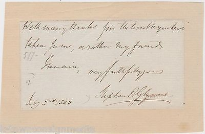 SIR STEPHEN GLYNNE 9th BARONET ENGLISH CHURCH ARCHITECTURE AUTHOR AUTOGRAPH 1840