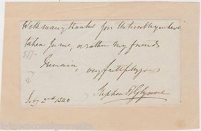 SIR STEPHEN GLYNNE 9th BARONET ENGLISH CHURCH ARCHITECTURE AUTHOR AUTOGRAPH 1840