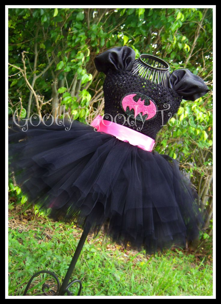 I'M BATGIRL! Tutu Dress with Detachable and Reversible Cape in Hot Pink - Large 4-6T