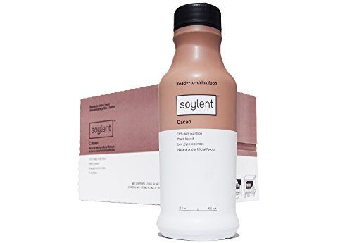 Soylent Ready To Drink Food, Cacao, 14 oz Bottles, 12 Count