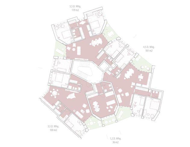housing Guggach II -  Zürich - Knapkiewicz & Fickert - 2014-19