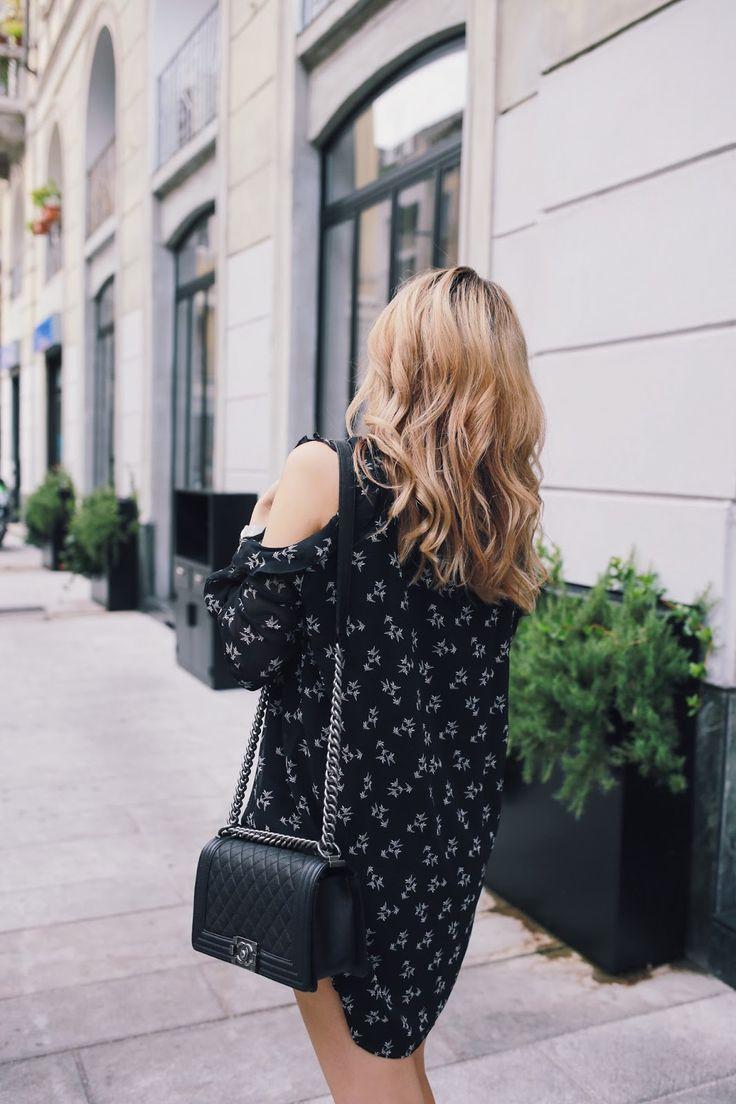 Mango Cold Shoulder Dress Chanel Boy Bag Outfit Blogger Germany