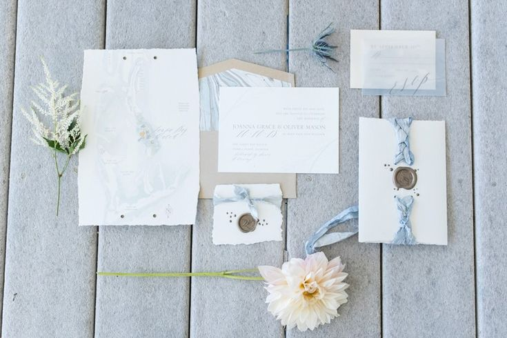Elegant Watercolour Wedding Stationery // Photography ~ Caroline & Evan Photography