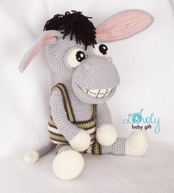 DONKEY AMIGURUMI PATTERN crochet donkey plush pattern doll pdf pattern donkey toy pattern farm animal tutorial how to crochet donkey
