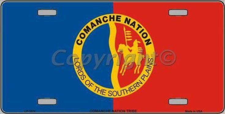 Comanche Nation Flag Tag Sign