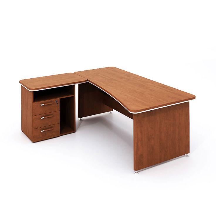 LN9902 Rohový stůl WELS se zásuvkami a poličkou 200x190 cm, levý