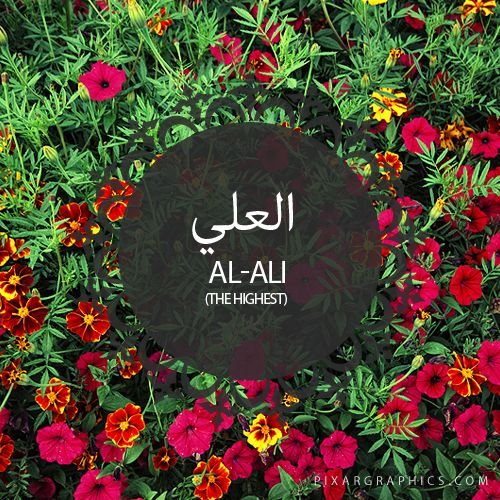 Al-Ali,The Highest,Islam,Muslim,99 Names