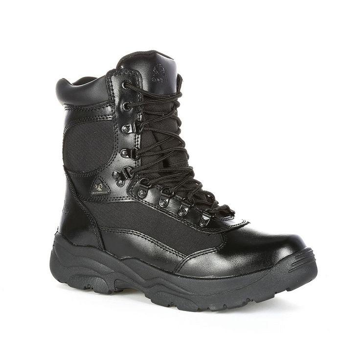 Rocky Fort Hood Men's Waterproof Work Boots, Size: medium (11.5), Black
