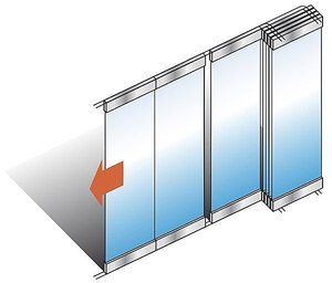 movable partition wallmirror