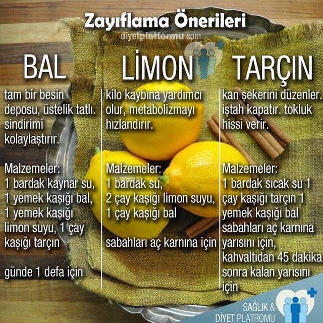 Bal, limon ve tarçın ile hazırlayabilecek üç pratik öneri #diyet #sağlık #diyetteyim #doğal #diyetisyen #bal #limon