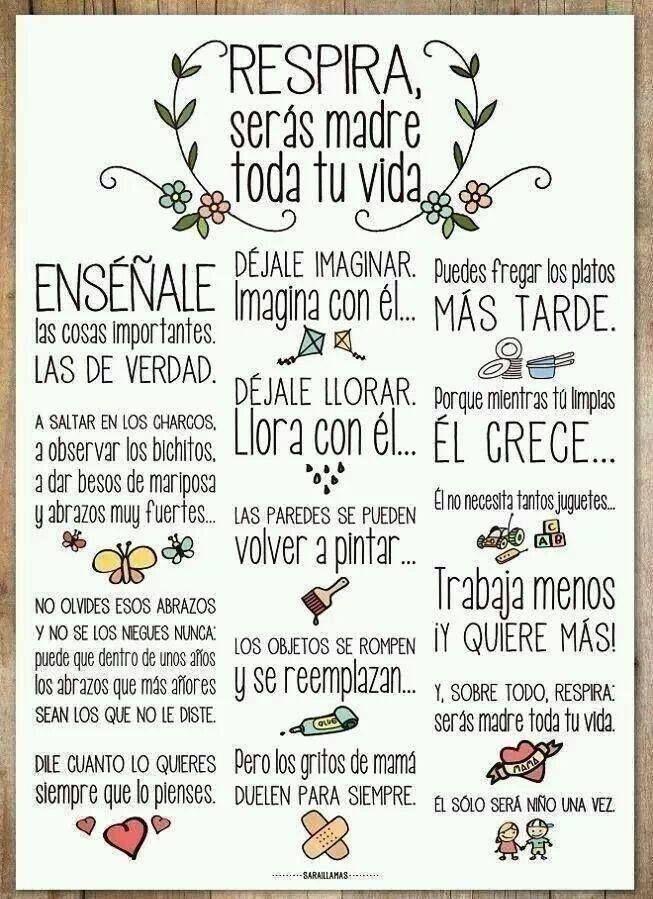 Ser madre, es un regalo para toda la vida. #madre #nuevamama #SanaSanaFamily www.sanasana.com