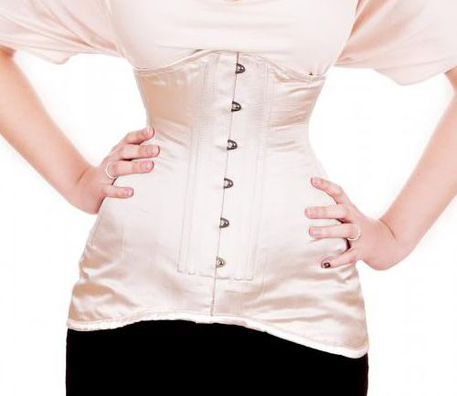 Emma's Corsets Longline corset - Cream