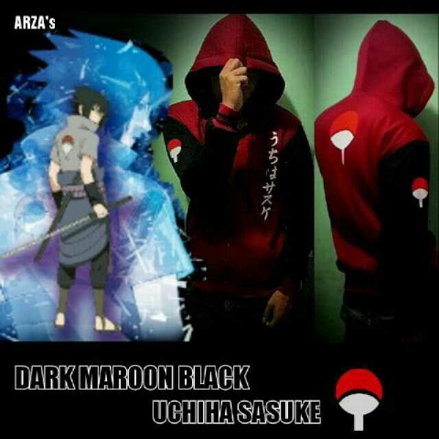 Jaket Anime Uchiha sashuke maroon