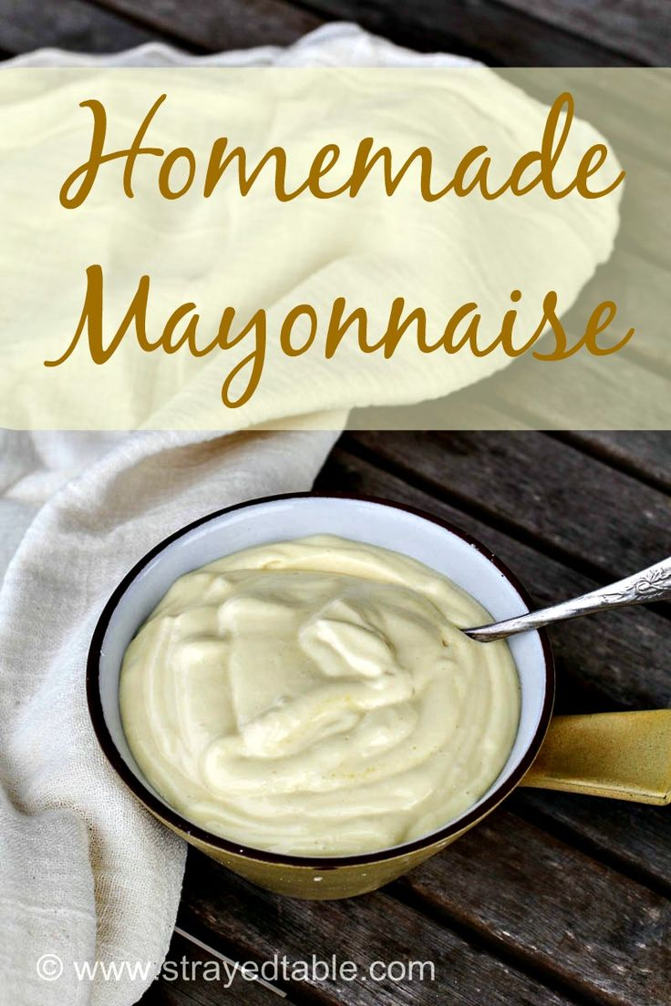 DIY Homemade Mayonnaise. Make your own mayonnaise using only 5 ingredients with this simple recipe. Visit Strayed from the Table for more recipe inspiration.