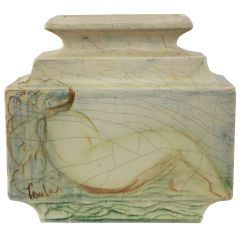 Lachenal French Art Deco, Unique Ceramic Piece