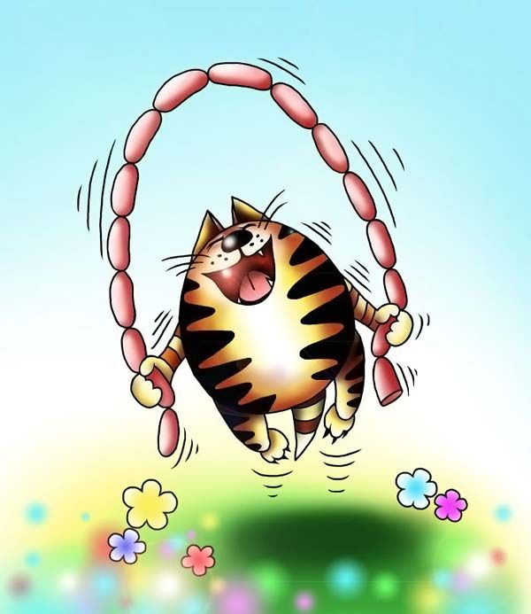 Смешные картинки рисованные котов