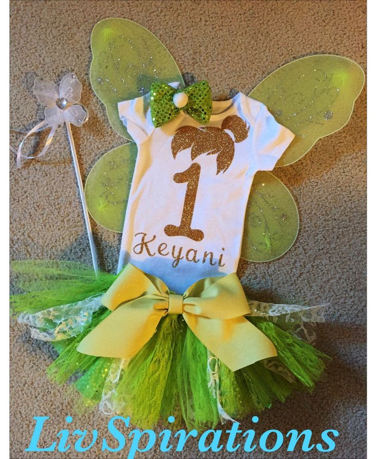 Tinkerbell Birthday Outfit-Disney Princess-Tinkerbell-Peterpan-Disney-First Disney Trip-Disney Characters-Disney Movies-Tink-Fairies- by LivSpirations on Etsy https://www.etsy.com/listing/266555282/tinkerbell-birthday-outfit-disney