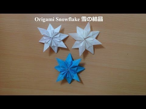 【折り紙1枚】雪の花★SnowFlower【Origami Tutorial】折り図付き♪snowflake(#70) - YouTube