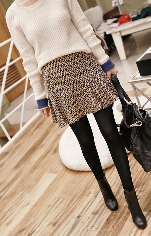 GEOMETRIC PRINT FIT AND FLARE SKIRT