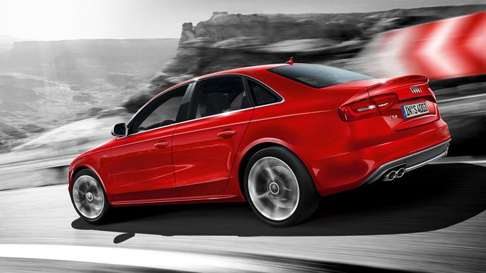 Power. Efficiency. Intelligence. Concepts that are united in one symbol: the S emblem. An Audi that bears this symbol in its name belongs to an impressive tradition of superior sports cars. Like the Audi S4 Saloon. Source: Audi AG