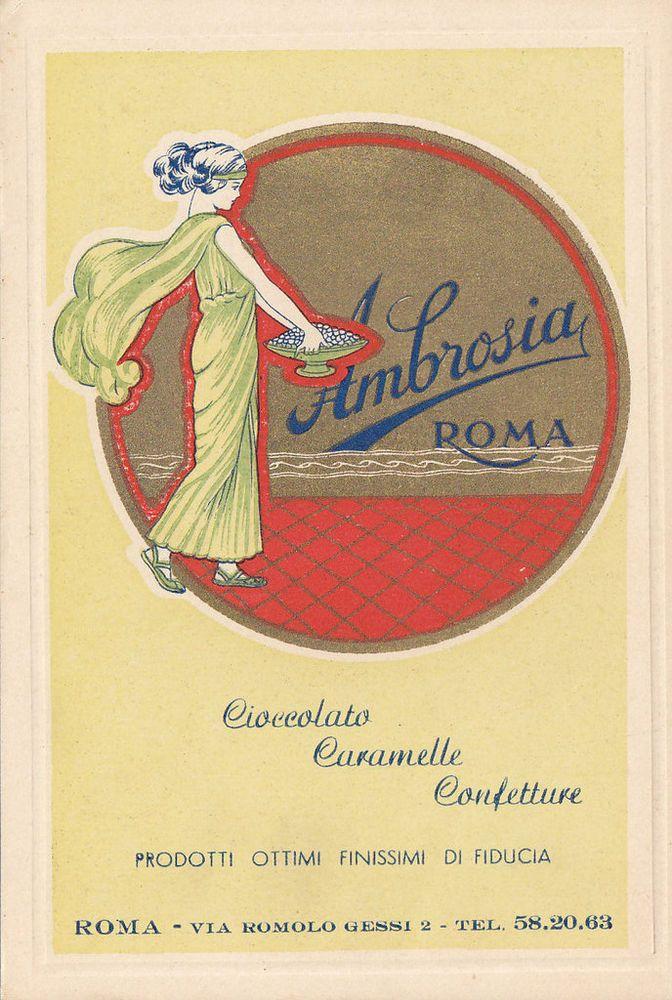 PUBBLICITARIA AMBROSIA ROMA CIOCCOLATO CARAMELLE