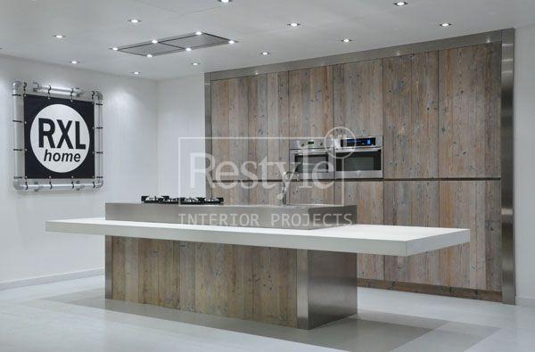 Een steigerhout keuken combineert prima met strak design wij ontwerpen de keuken geheel naar uw - Keuken ontwerpen ...