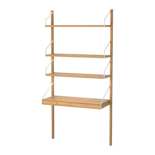 SVALNÄS Veggmontert oppbevaring IKEA Med en romslig oppbevaringsløsning har alle ting sin egen plass, slik at du lett kan finne tingene dine.