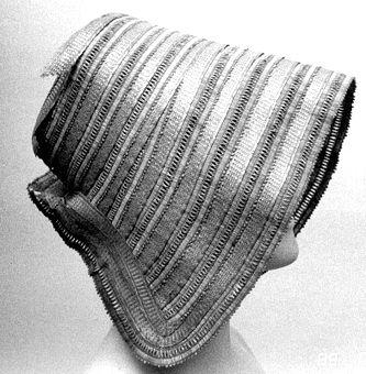 Straw bonnet,Swedish, 1840's. Örebro Läns Museum, nr. OLM-2625-A-C