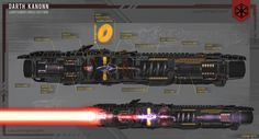 ArtStation - Sith Lightsaber, Part 2 Cross Section, Stefan Petit