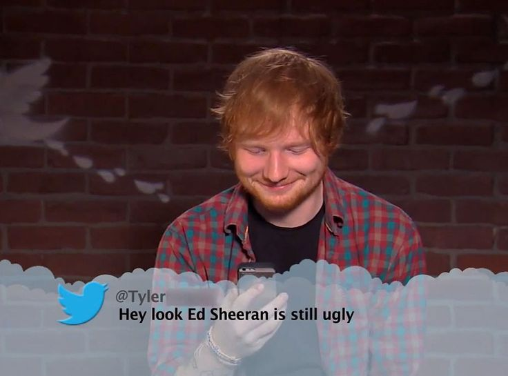 Ed Sheeran from Celebrity Mean Tweets From Jimmy Kimmel Live! | E! Online