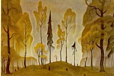 """Forest silhouettes. From the series """"Autumn thoughts"""" by Boris Smirnov Rusetsky"""