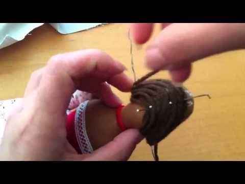 Как сделать волосы для тильды детально с фотографиями   Тильда Мастер (тильдамастер)