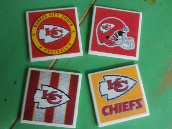 Check out this item in my Etsy shop https://www.etsy.com/listing/246630015/kansas-city-chiefs-inspired-ceramic