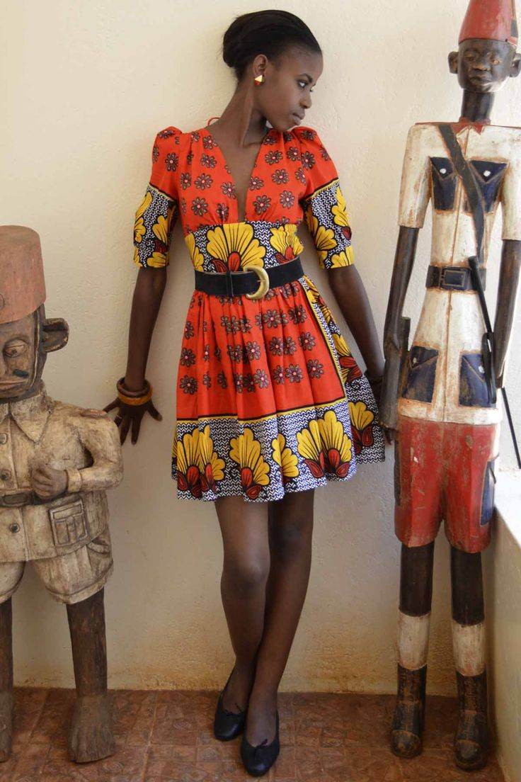 Maria dress kitenge africa dress africanfashion African fashion designs pictures