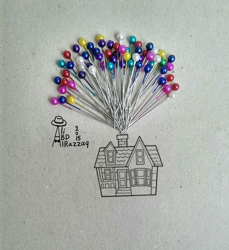 Ali Abd Alrazzaq Draw Interactive Illustrations Using Everyday Objects (part 3) | Bored Panda