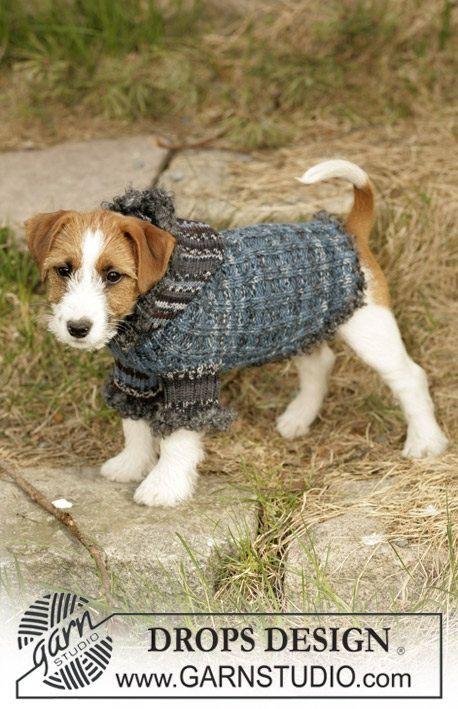 Handmade knit dog sweater / coat / hoodie / jacket by YaninaKnits