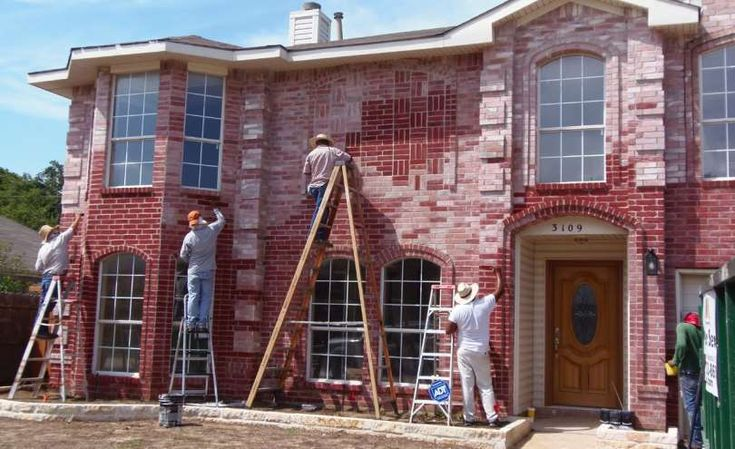 Brick stain and masonry staining from dyebrick brick - Staining brick exterior pictures ...