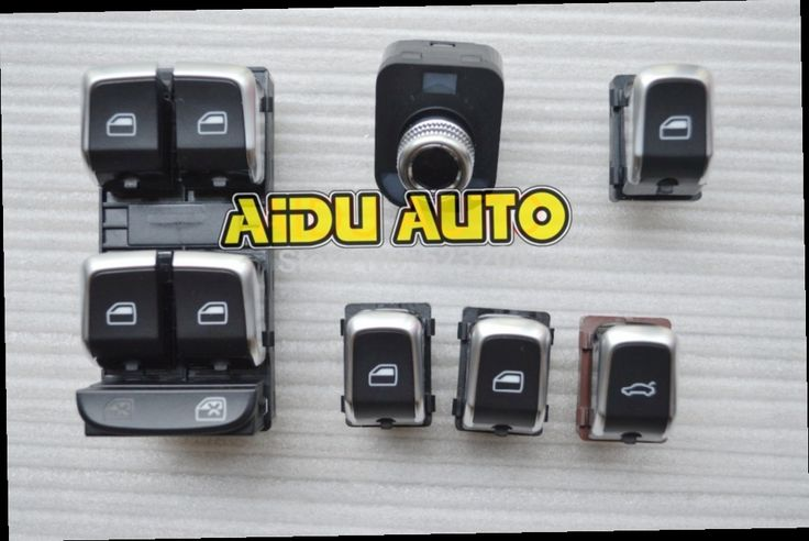 51.00$  Buy here - http://aliivd.worldwells.pw/go.php?t=1918761065 - OEM Original Chrome Side mirror switch+Master window switch FOR VW Audi Q5 A4 B8 S4 B8 Q5 A5 09-2012