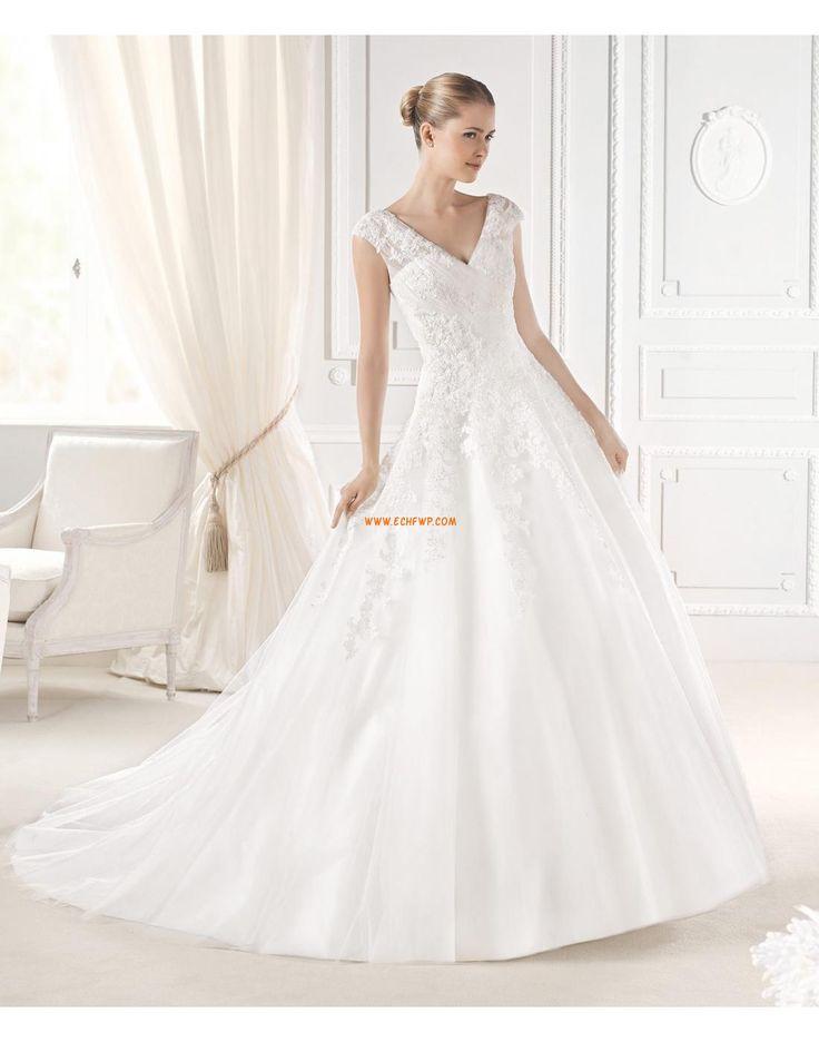 A-line Zip Naturel Robes de mariée 2015