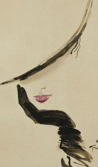 Illustration by René Gruau (1909-2004), Élégante. I love his simple, yet elegant style.. it makes me happy and dreamy :)