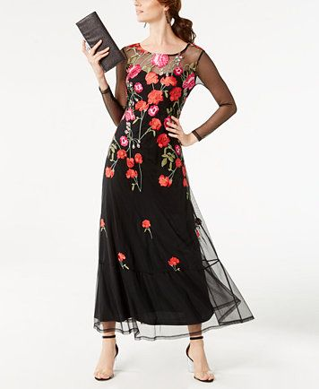 502449d4ff45 INC International Concepts Petite Embroidered Maxi Dress, Created for  Macy's | macys.com