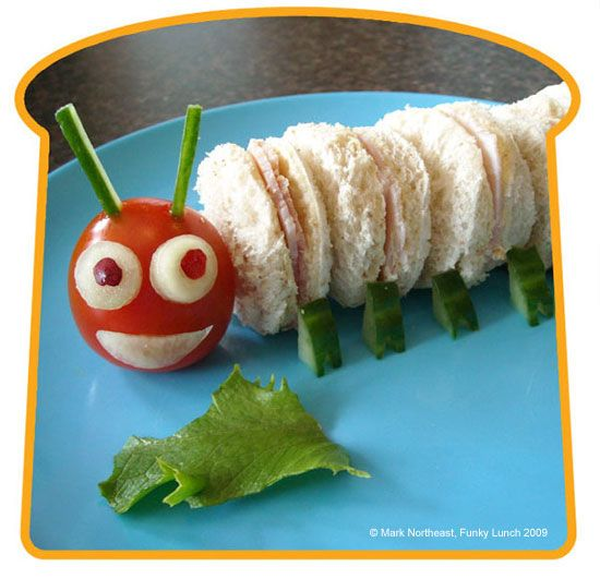 caterpillar: Fun Food, Hungrycaterpillar, For Kids, Kidsfood, Food Ideas, Caterpillar Sandwiches, Hungry Caterpillar, Food Art, Kids Food