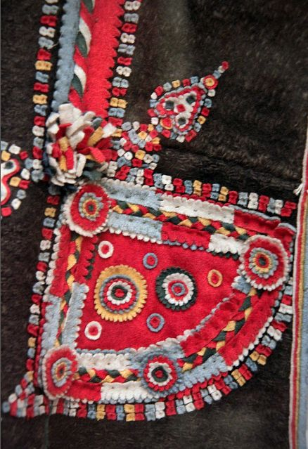 Detail 2 - Bride from Torockó in church costume, Torda - Aranyos county, late 19th century